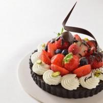 生チョコ苺タルト
